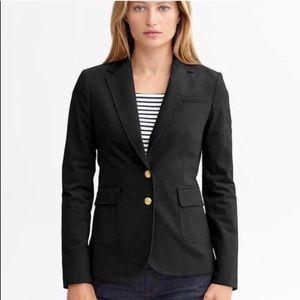 Banana Republic Black Wool Hacking Jacket